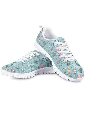 Sneakers Tenis modelo Podología (Azul) | Suela Blanca