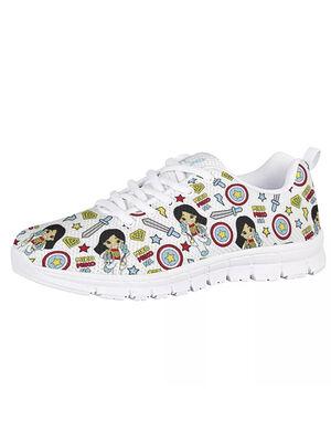 Sneakers Tenis modelo Super Woman (Blanco) | Suela Blanca
