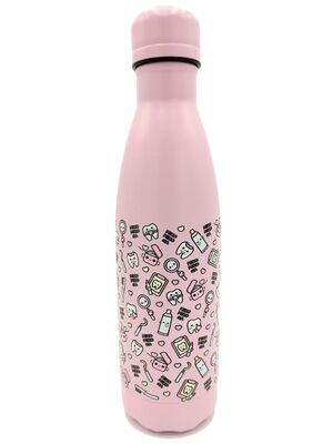 Botella Térmica Acero Inoxidable 500ml | Modelo Dentista (Rosa)