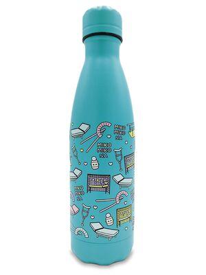 Botella Térmica Acero Inoxidable 500ml | Modelo Fisio (Azul Aqua)